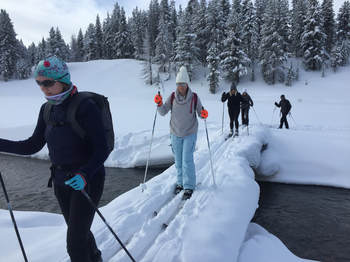 1st time XC skiers in Yellowstone